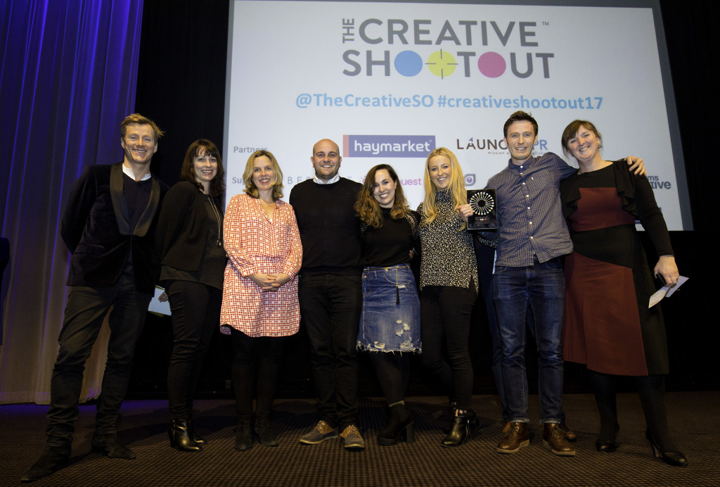 Creative Shootout Live Final 2017 WINNERS ON STAGE WITH JUDGES